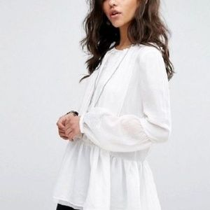 Free People The Soul Serene Ivory Blouse